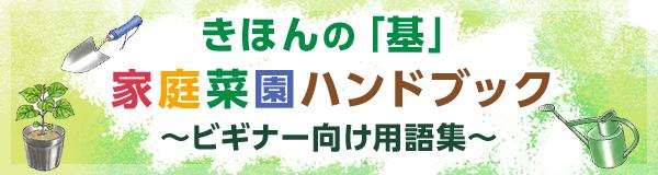 きほんの「基」家庭菜園ハンドブック〜ビギナー向け用語集〜